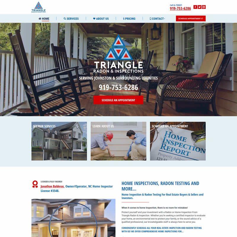 Triangle Radon Inspections Clayton Nc Web Design